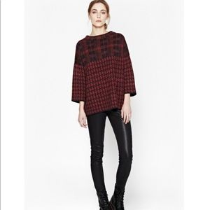 French Connection Houndstooth Alpaca Sweater Small